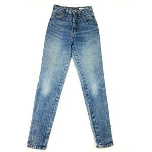 "VTG 80s Acid Wash Jeans High Rise Denim Mom 24"""